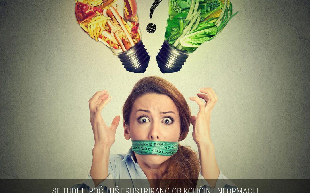 Paralizirana od vseh informacij o zdravi prehrani in dietah?